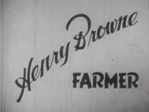Henry Browne, Farmer (C)