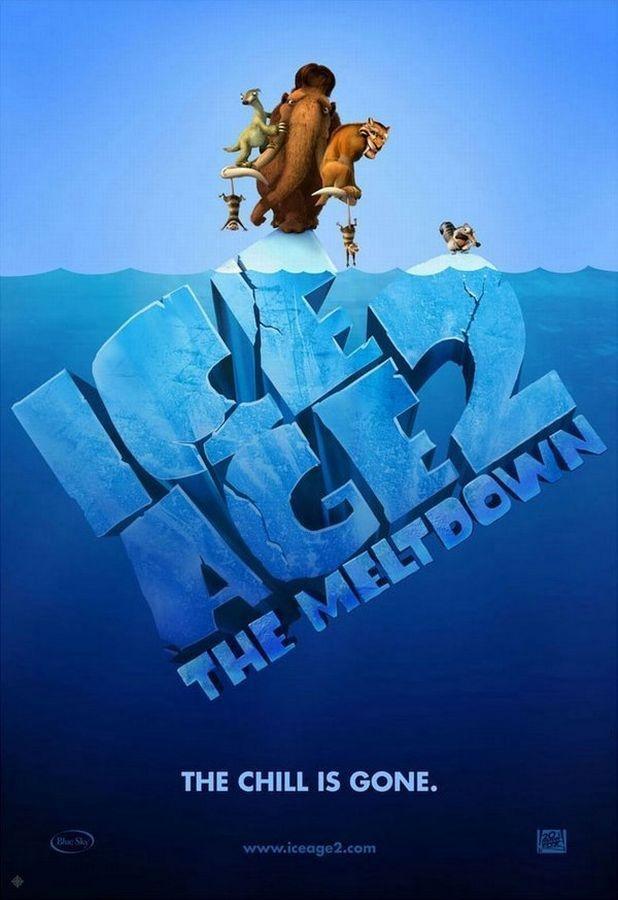 póster de la película de animación infantil Ice age 2