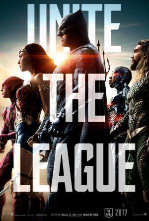 póster de la película de superhéroes La liga de la justicia