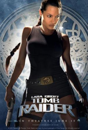 póster de la película de aventuras Lara Croft, tomb rider