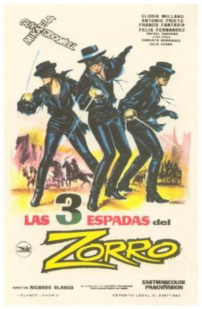 Las tres espadas del Zorro