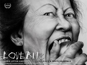 Love Bite: Laurie Lipton y sus perturbadores dibujos en blanco y negro