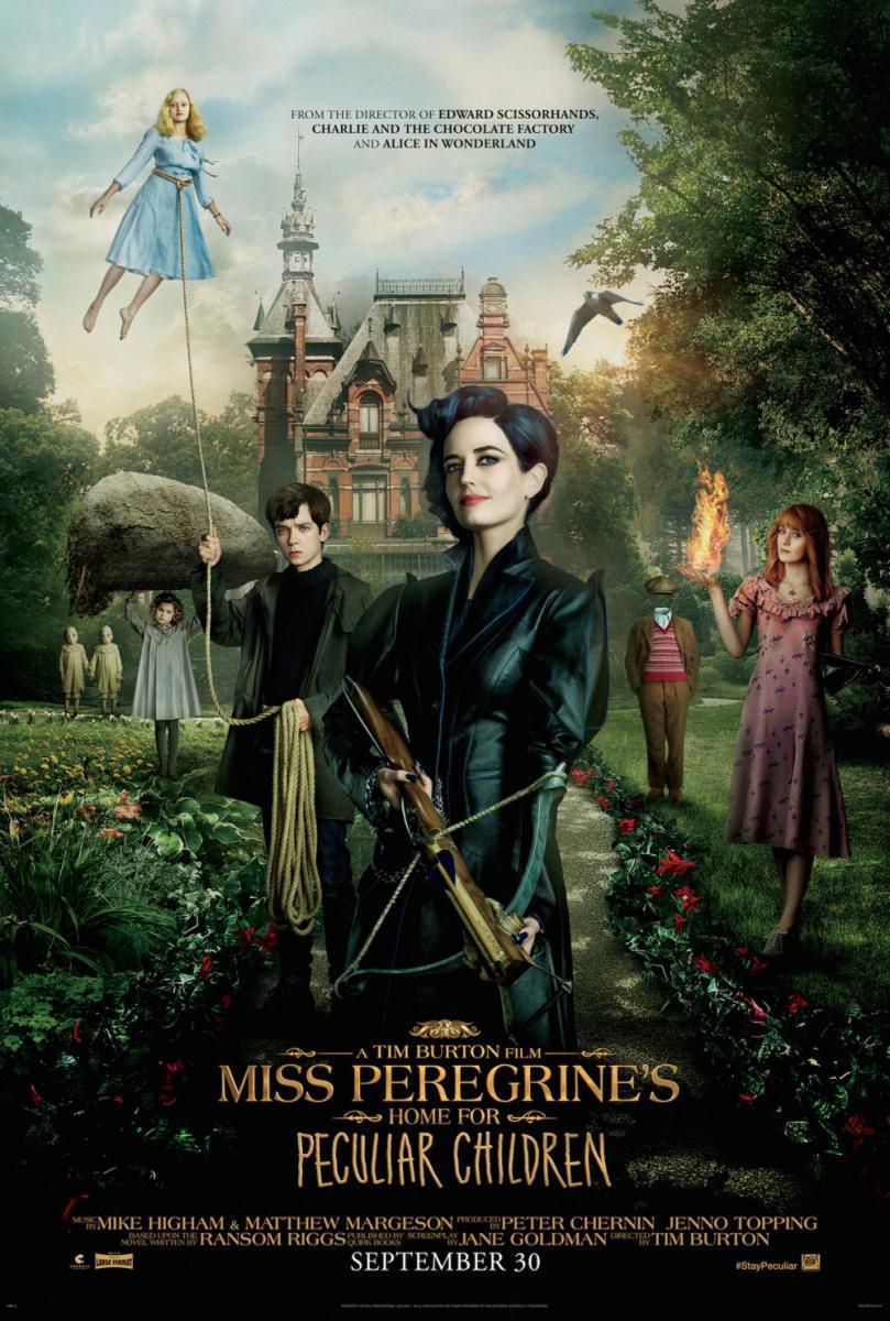 Miss Peregrine's Home for Peculiar Children,  El hogar de Miss Peregrine para niños peculiares, película, cine, cartelera, blog de cine, solo yo, blog solo yo, Tim Burton, fantástico, aventuras, Young adult, viajes en el tiempo, años 40,