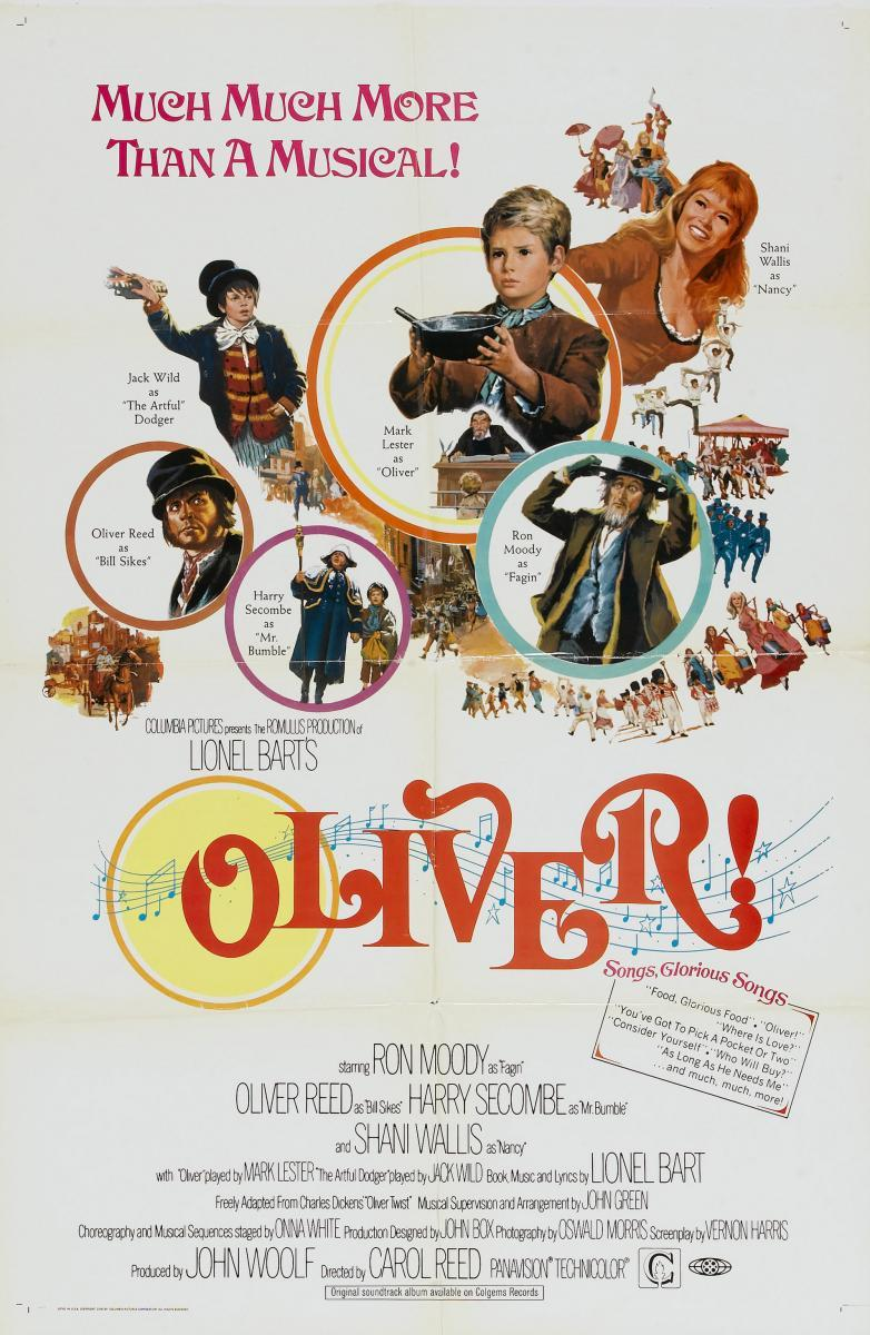 a review of oliver a 1968 british musical drama film by carol reed My favorite musical, 'oliver' is a touching, loveable academy award-winning british film unlike so many american musicals, there's no dubbing, and the accents are real near-perfect, and perhaps ahead of its time as well.