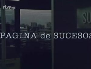 Página de sucesos (TV Series)