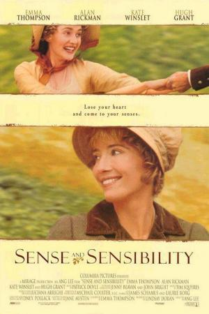 póster de la película romántica histórica Sentido y Sensibilidad
