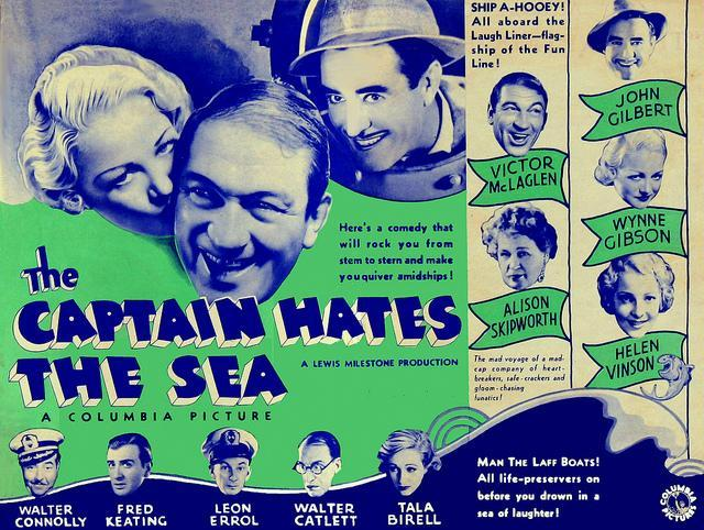The Captain Hates The Sea 1934 Filmaffinity