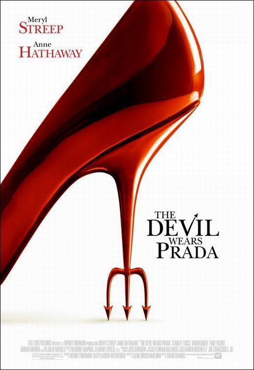 póster de la película chick lit El diablo viste de Prada