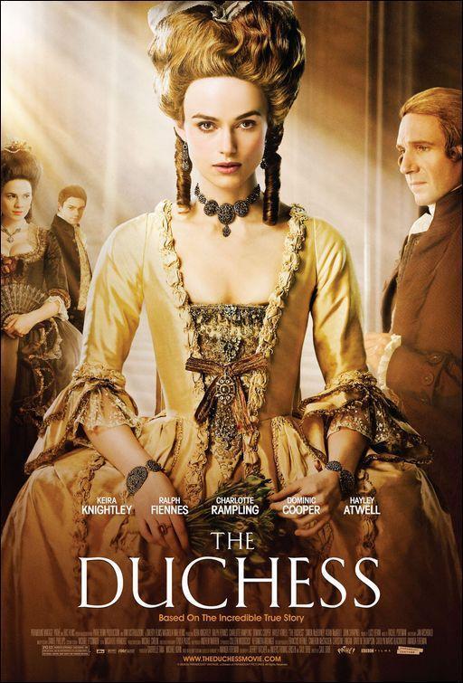 póster de la película histórica La duquesa