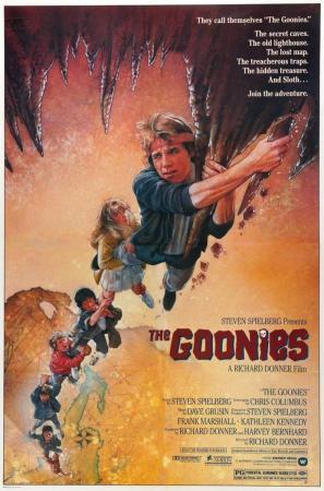 póster de la película de aventuras juvenil Los goonies
