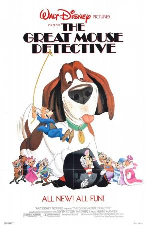 Póster de la película de animación Basil, el ratón superdetective