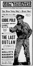 The Last Outlaw (C)