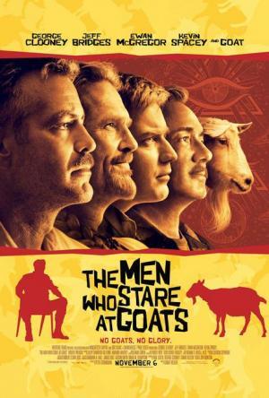 póster de la película Los hombres que miraban fijamente a las cabras