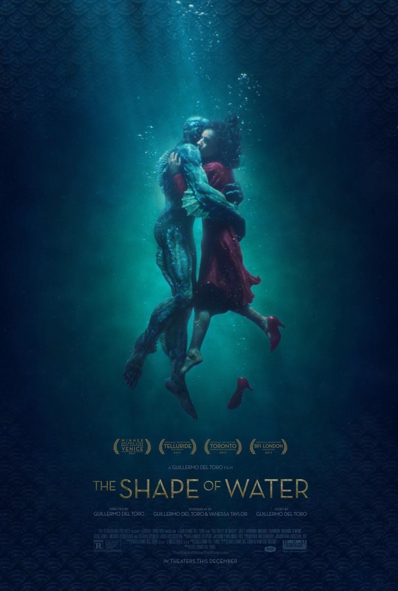 póster de la película de fantasía La forma del agua