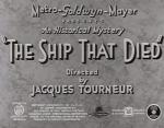 The Ship That Died (S)