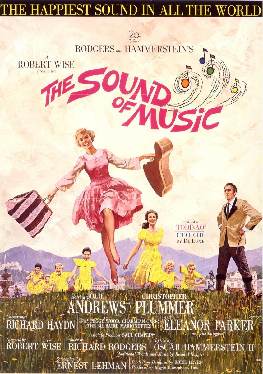 póster de la película musical Sonrisas y lágrimas