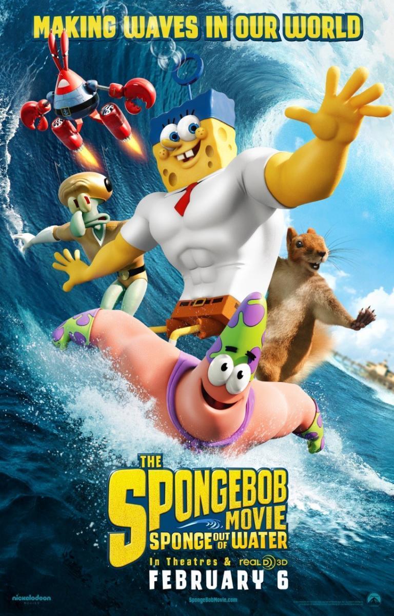 Bob Esponja: Un héroe fuera del agua [2015][Español Latino][1080p][MEGA]