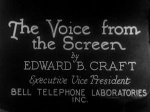 The Voice from the Screen