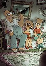 Triplets of Belleville' Simpsons Couch Gag (C)