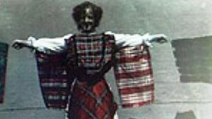 Woman Draped in Patterned Handkerchiefs (C)