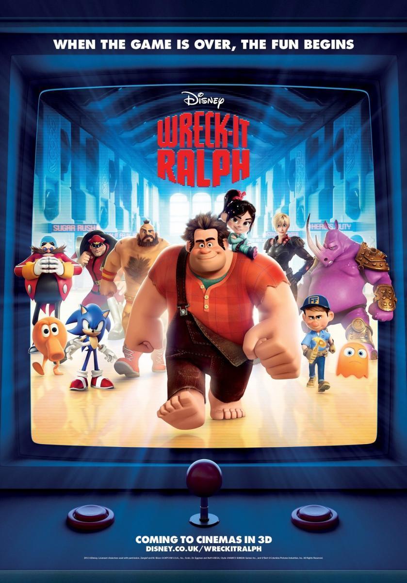 póster de la película de animación de fantasía Rompe Ralph